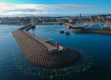 Drone Photos of Pier, Eisenhower Pier in Bangor Northern Ireland