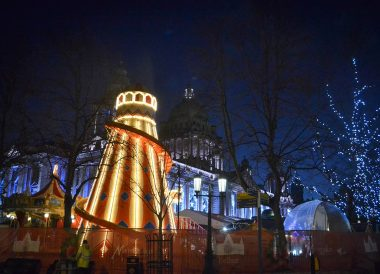 Helter Skelter at Belfast Christmas Market at City Hall Northern Ireland