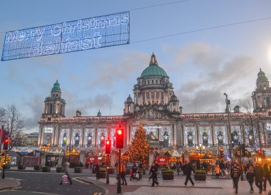 Winter time, Welcome to Belfast Christmas Market at City Hall Northern Ireland