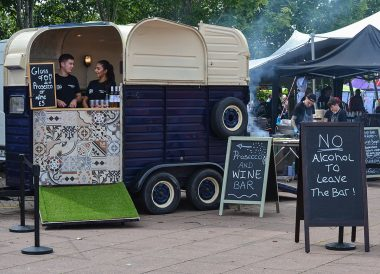 Prosecco Bar at Open House Festival Seaside Revival in Bangor Northern Ireland