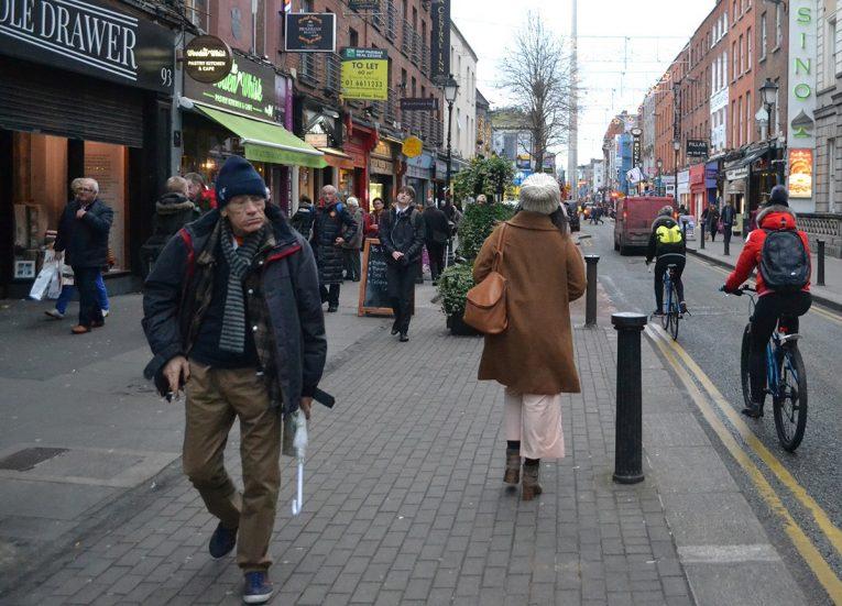 Talbot Street during Christmas in Dublin City Centre Ireland