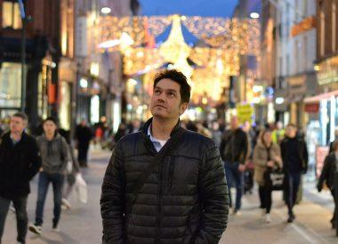 Allan Wilson Travel Blogger, Christmas in Dublin City Centre Ireland