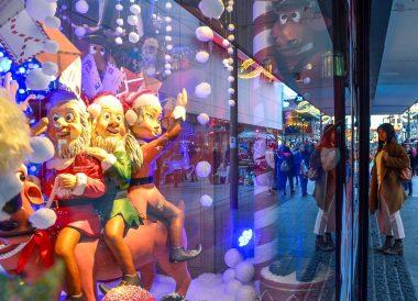 Arnotts window display, Christmas in Dublin City Centre Ireland