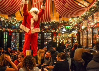 Temple Bar Decorations, Christmas in Dublin City Centre Ireland