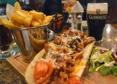 Food Menu Fitzgerald's, Christmas in Dublin City Centre Ireland
