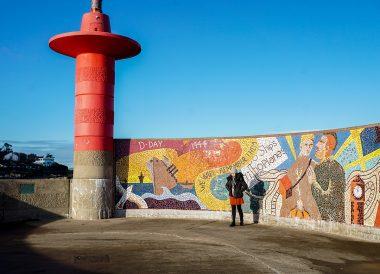 WW2 Mosaic, Eisenhower Pier in Bangor, Northern Ireland