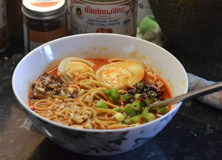 Tom Yum Noodle Soup, Asian Vegetarian Recipes for a Veggie Diet Challenge