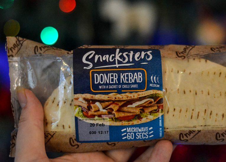 Snacksters Doner Kebabs Mcrowave food from B&M Food Bangor Northern Ireland
